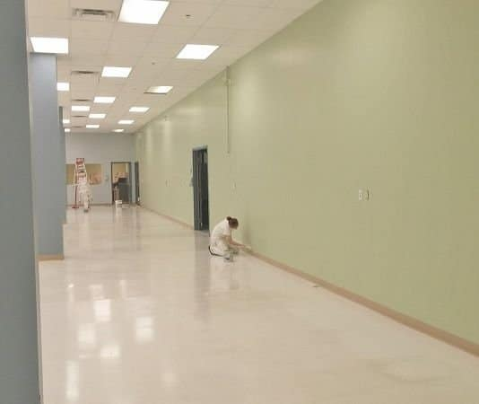 Commercial Markham building getting its interior painted