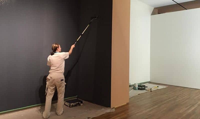 A woman painter working