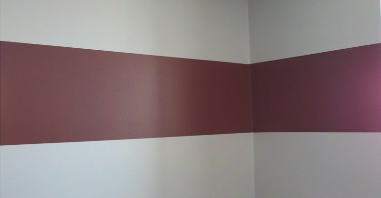 Painting stripe in Whitby office