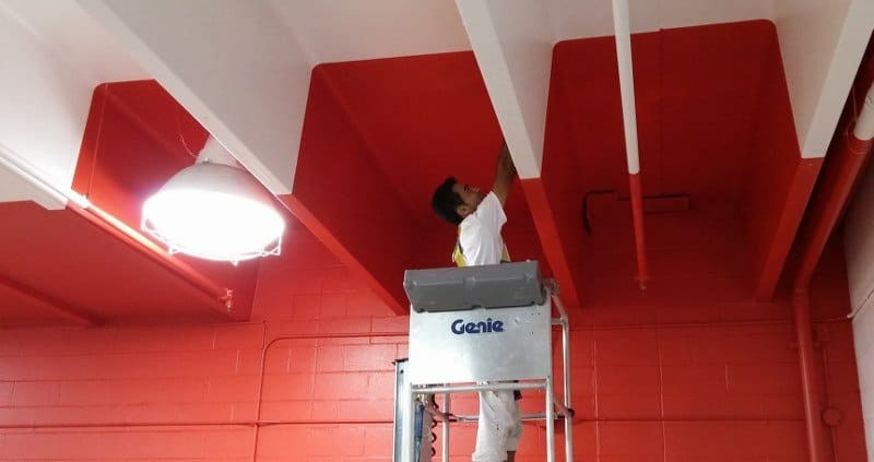Facility Services Such as Painting Gymnasiums.