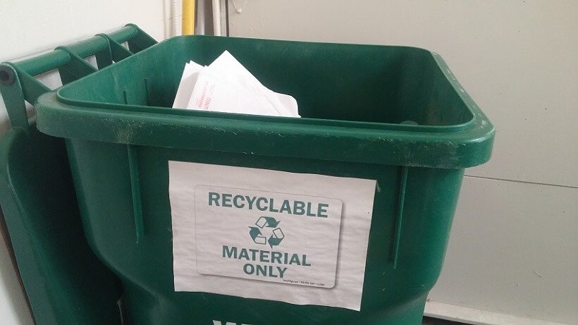 Recycling policy at the office