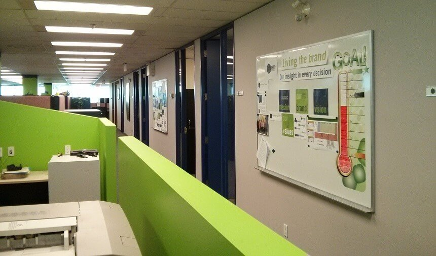 Interior commercial painting in Markham building