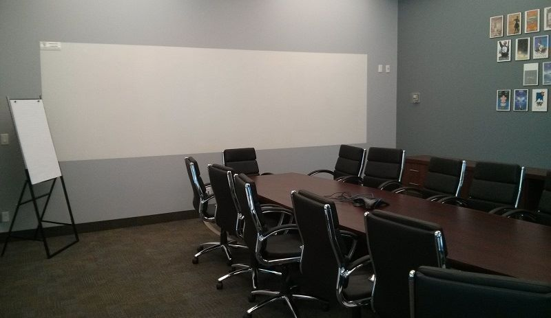 Whiteboard paint in the boardroom