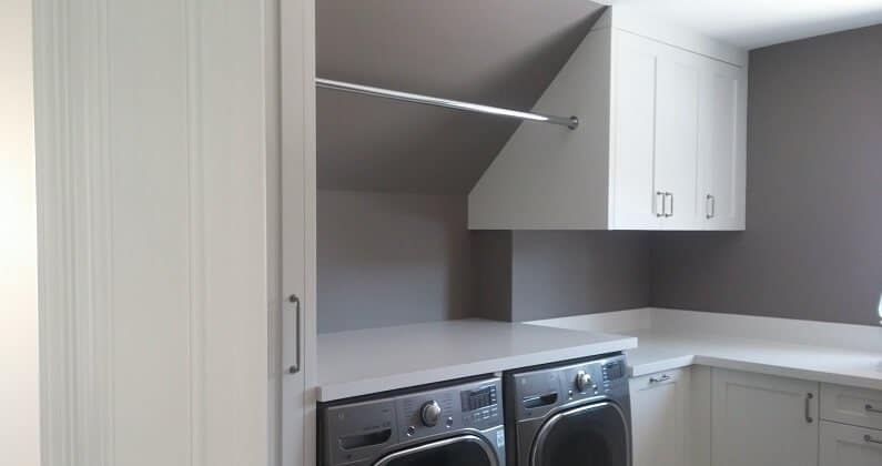 The right sheen in the laundry room