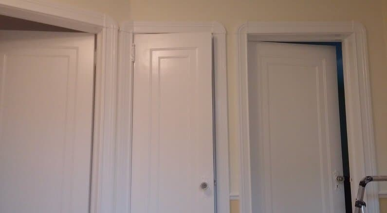 Doors and frames in semi gloss