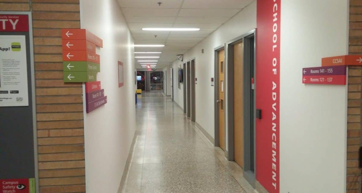 Commercial painting project by Ecopainting in a College