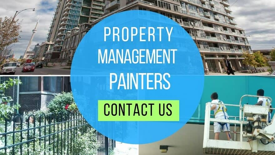 Property manager painting in the GTA