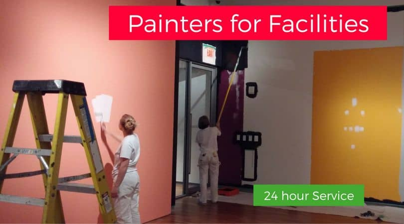 Maintenance painting of museum facility