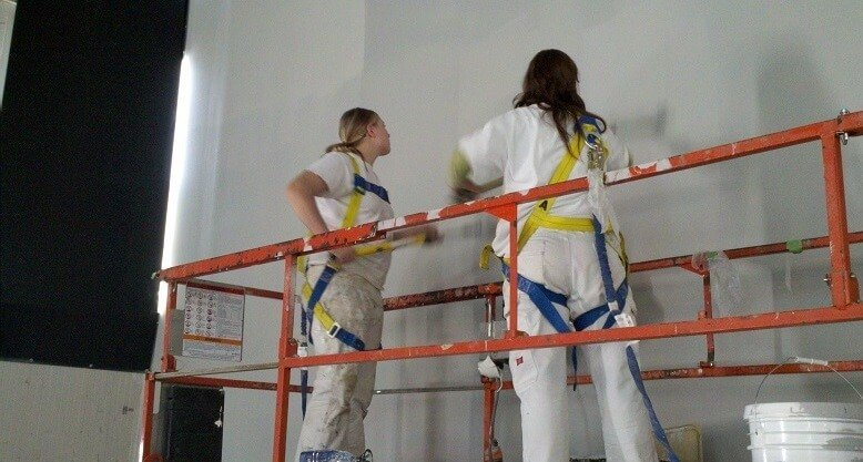painters with safety harness