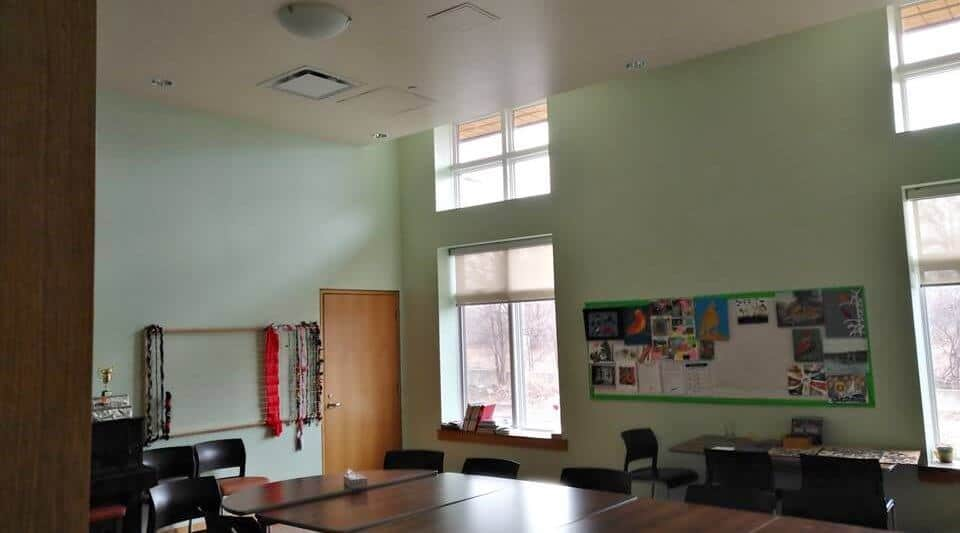 Activity room painted in Etobicoke hospice