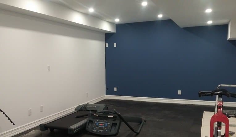 Home gym could use this calm blue paint