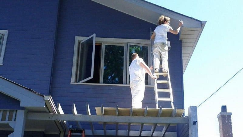 Painting the exterior of a North York home