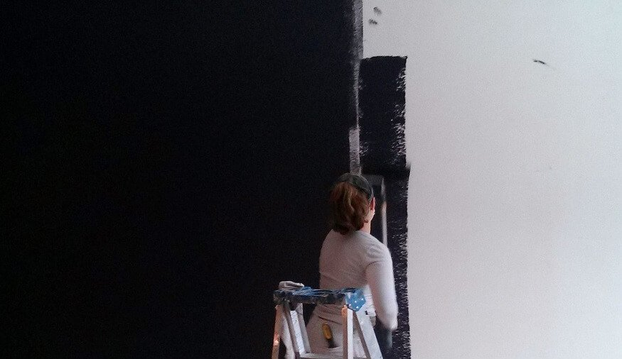 Painter using Dark Colours