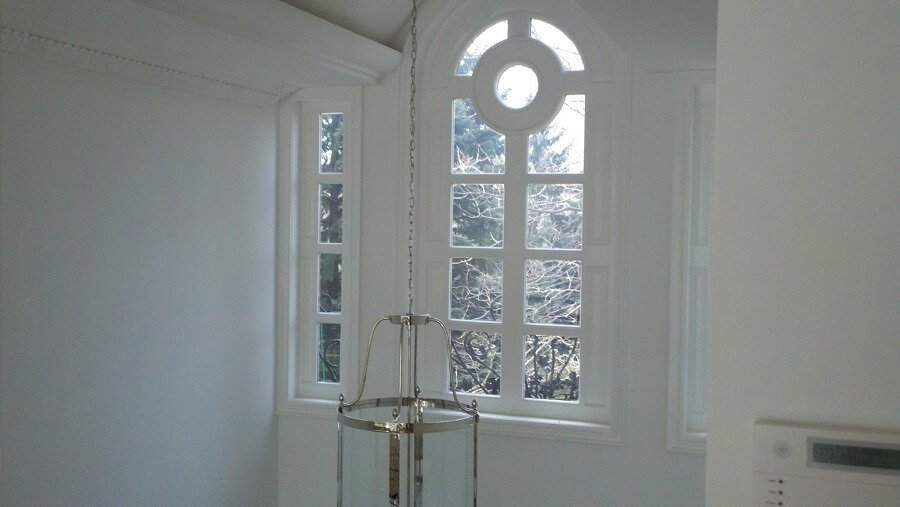 White colour for tall walls