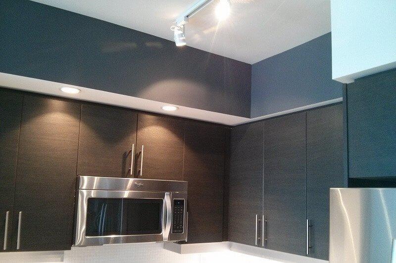 Dark gray Colour in Kitchen