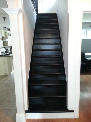 Merveilleux Painting Stair Risers In Dark Colour
