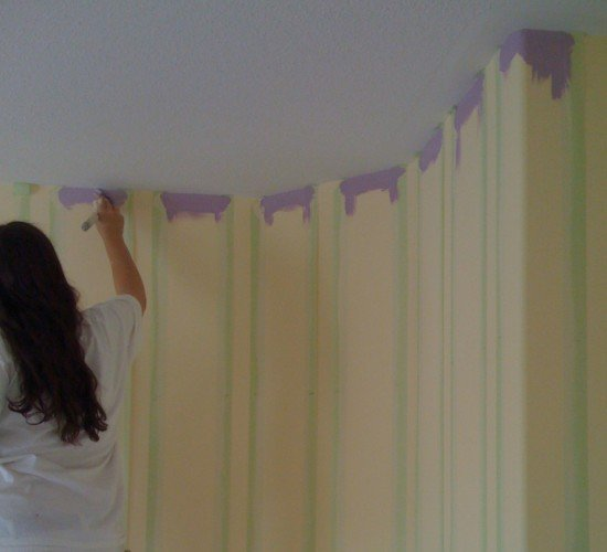 Creative colour on stairway wall