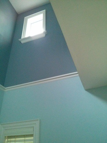 Two tone monochromatic solution for tall walls