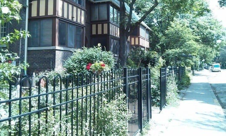 Black Iron railing in Housing complex