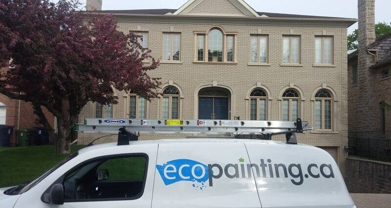 Painting the exterior of a North York again home 8 years later