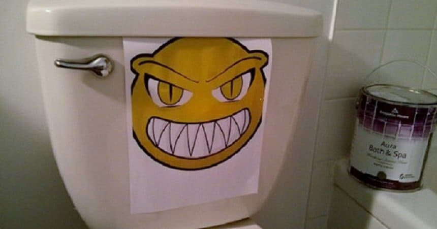 Dirty bathrooms can be a hazard