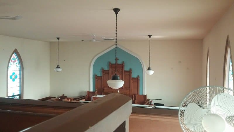 Unique challenge of interior painting of church