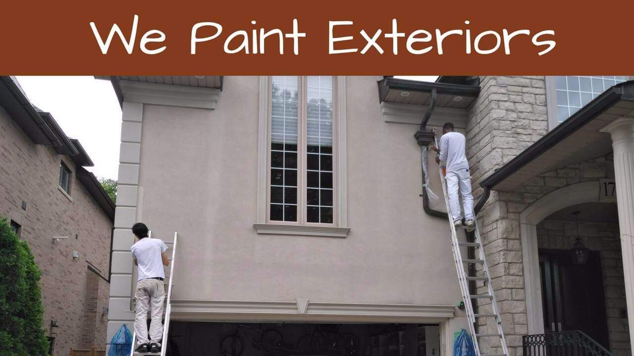 Our exterior painters just North of Toronto