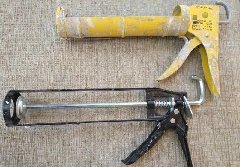 Two types of caulking gun