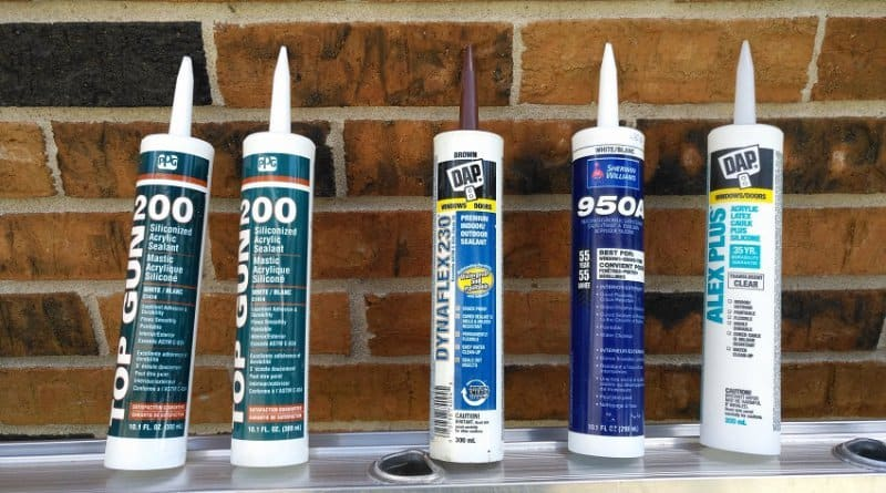 Variety of quality caulking materials