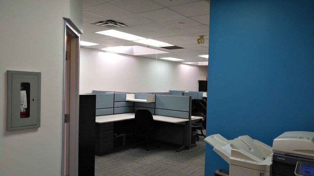 Painting an office for a commercial client in Concord