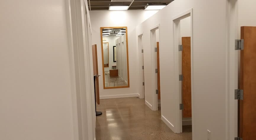 Commercial Paint job in retail store dressing rooms