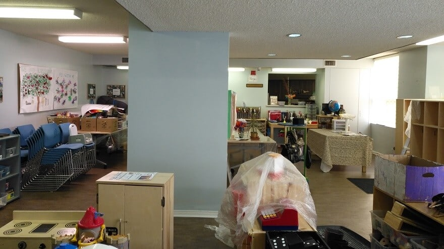 Ecopainting painting a daycare in Mississauga