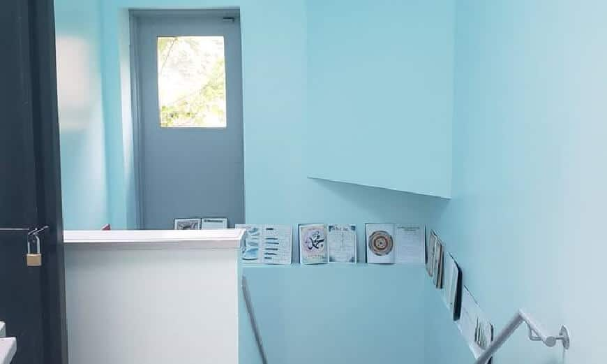 Light blue is a good colour to paint a preschool space