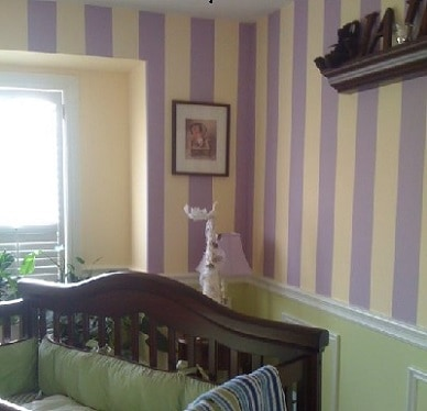 Nursery painted for Ajax mother