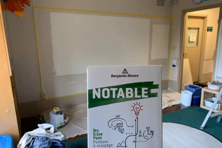 Dry Erase Whiteboard Installation by Ecopainting