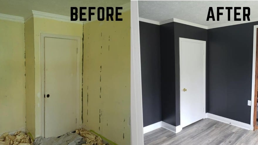 Interior painting project in Newmarket