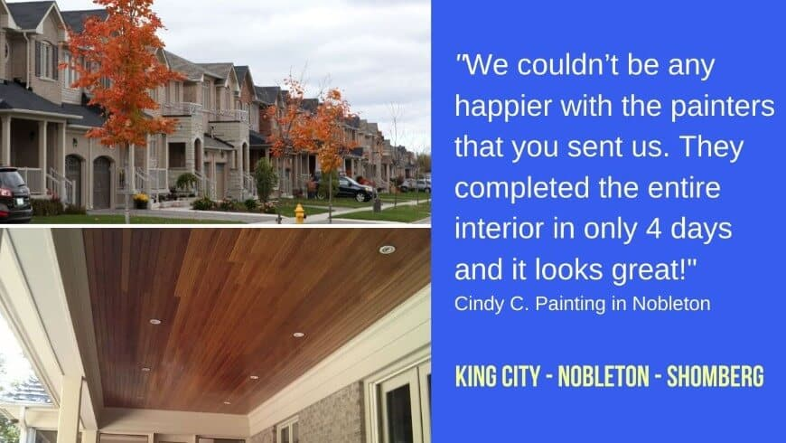 Painting in King city and Nobleton