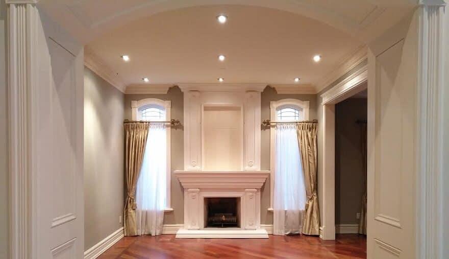 New Living Room Painted Beige to look elegant