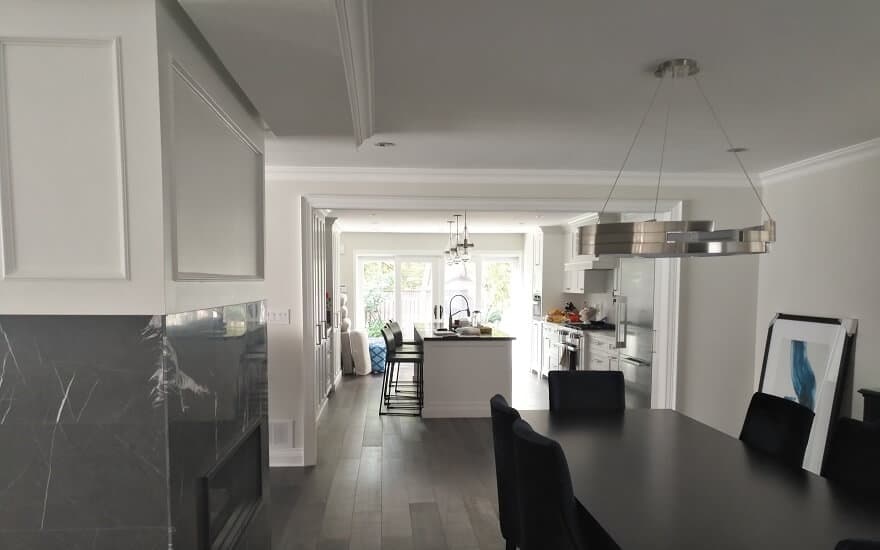New construction paint and design of new home in Etobicoke