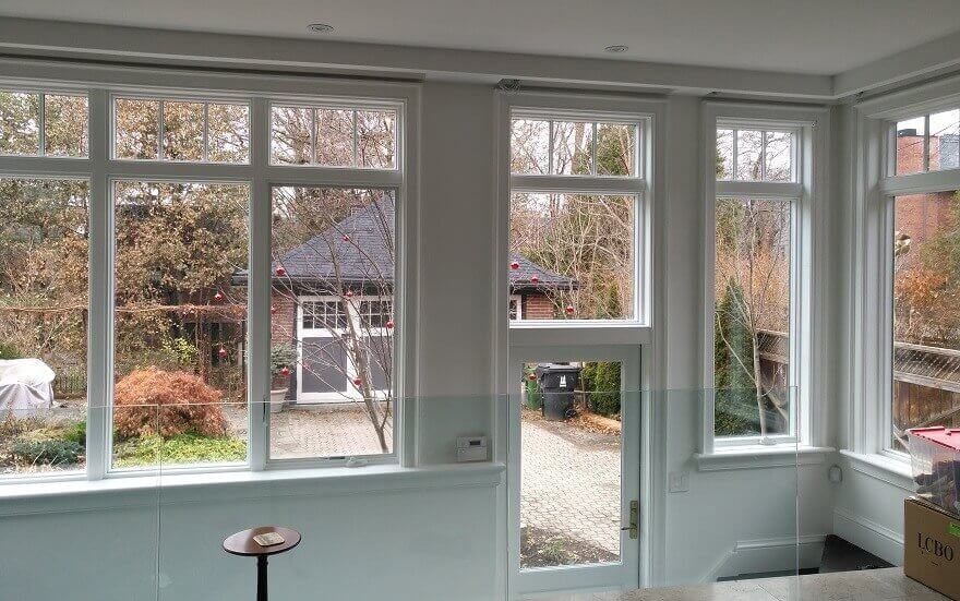 New woodwork freshly painted to perfection