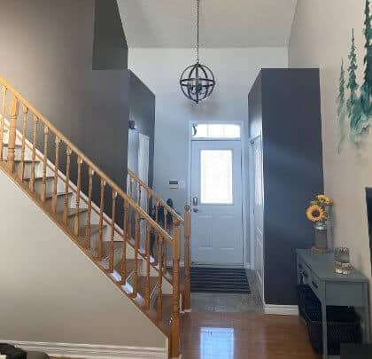 Welcoming foyer in a Barrie Home